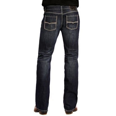 Rock And Roll Cowboy Mens Men Pistol Straight Dark