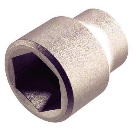 Socket,3/8 in. Dr,7mm Hex AMPCO SS-3/8D7MM