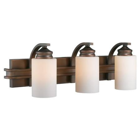Golden Lighting 1051-BA3-OP Hidalgo 3 Light Bathroom Vanity Light - 25.25