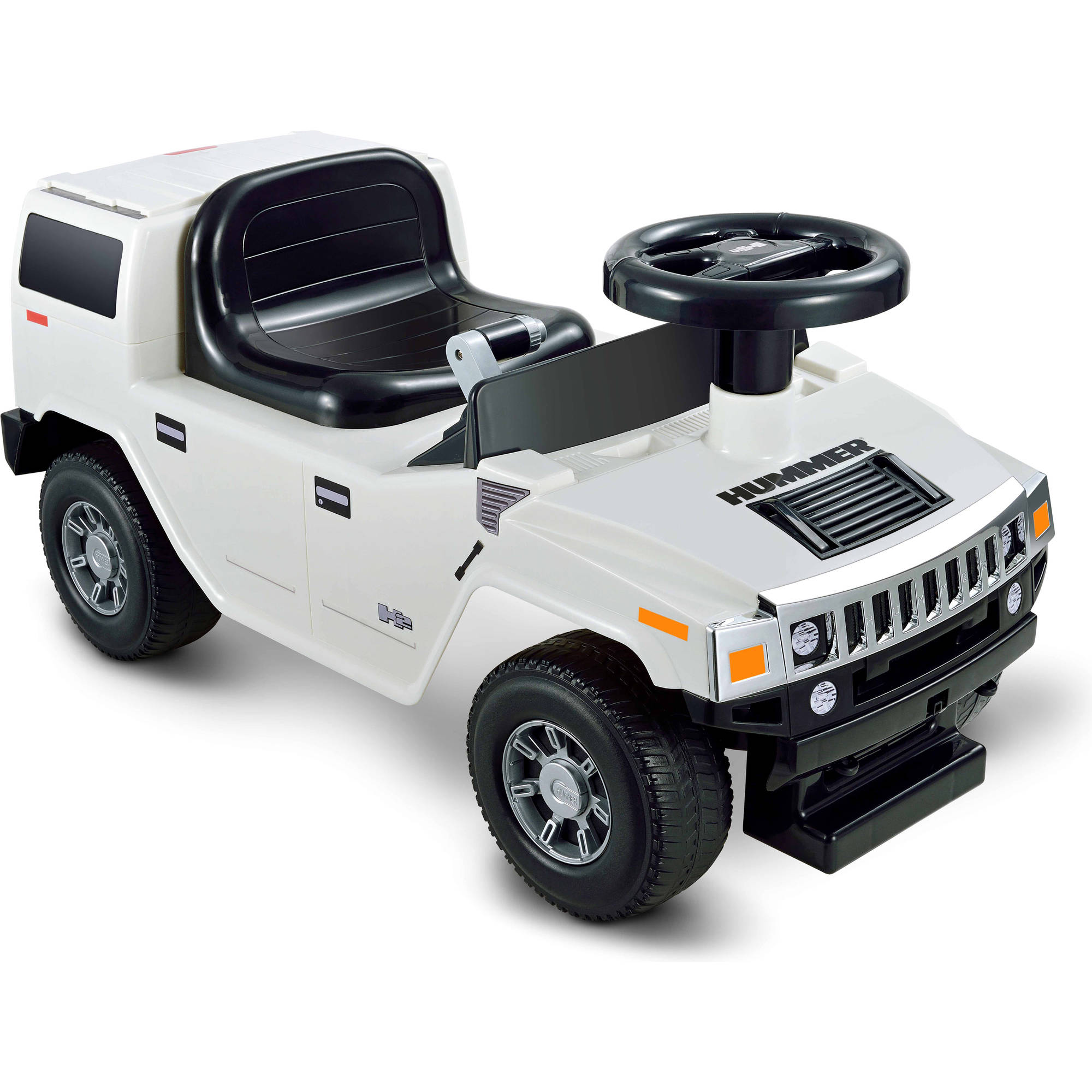Kid Motorz Hummer H2 Foot-to-Floor Ride-On, White