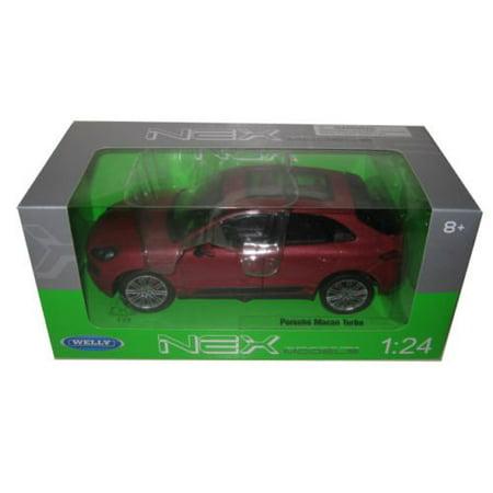24047 Porsche Macan Turbo Red 1/24 Diecast Model Car, Brand new 1:24 scalediecast model car of Porsche Macan Turbo Red die cast car model by Welly. By - 24 Red Die Cast Car