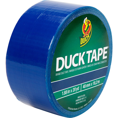 "Duck Brand Duct Tape, 1.88"" x 20 yard, Blue"