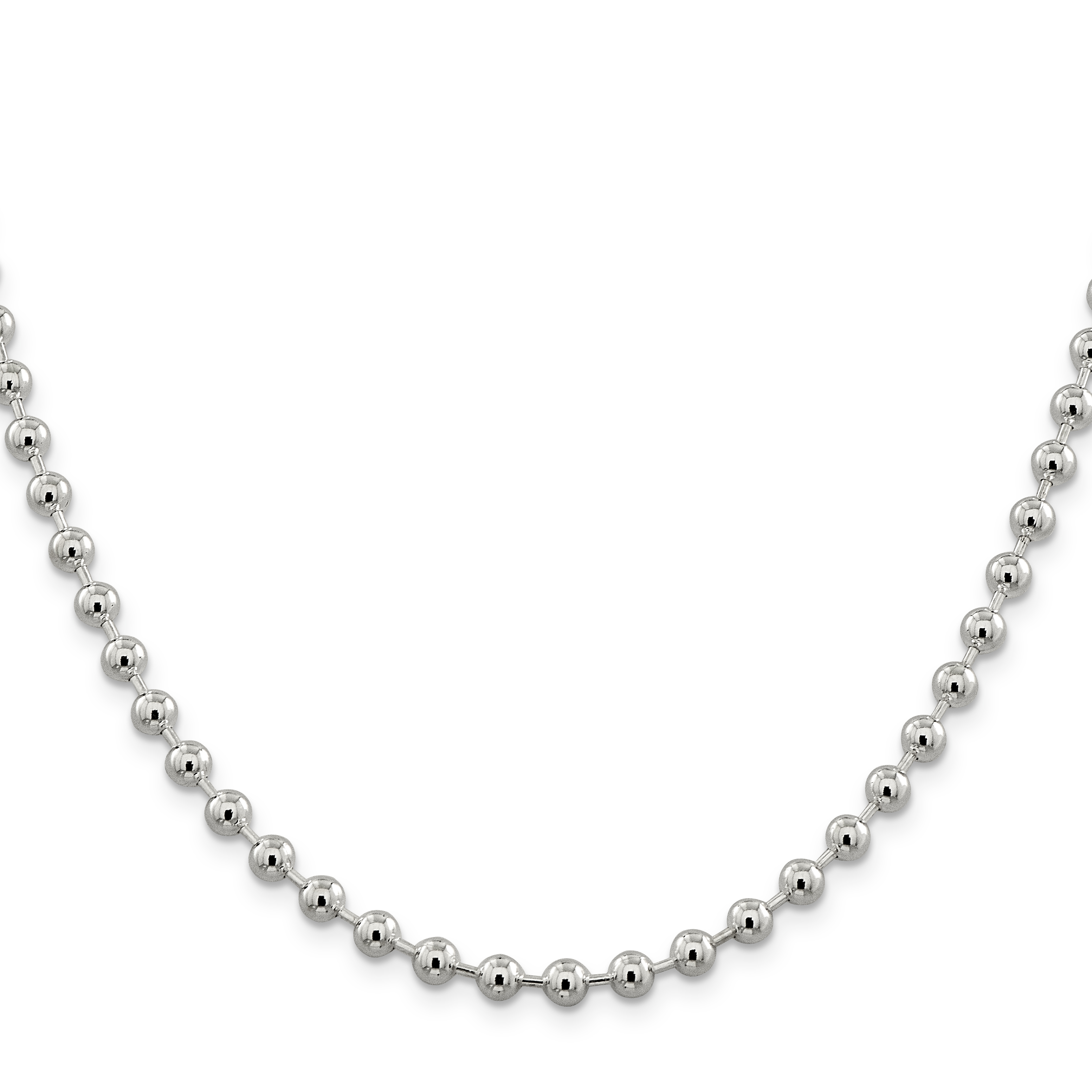 925 Sterling Silver 5mm Beaded Chain 20 Inch - image 5 of 5