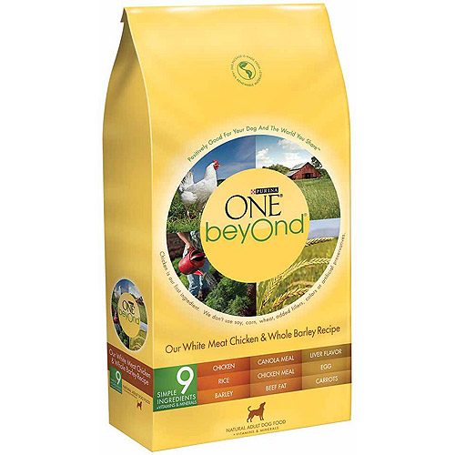Purina One Beyond Adult White Meat Chicken and Whole Barley Recipe Dog Food, 24 lbs