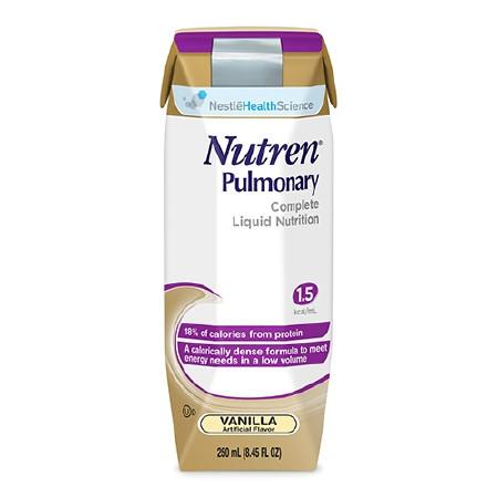 Nestle Healthcare Nutrition 9871616480 Oral Supplement / Tube Feeding Formula Nutren Pulmonary Vanilla- 24 COUNT