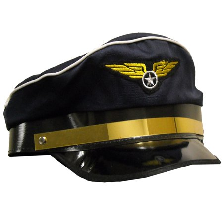 Airline Pilot Hat for Adults - Airplane Pilot Hat