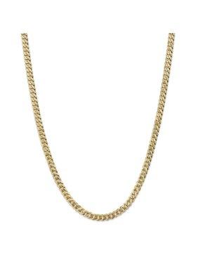 Primal Gold 14 Karat Yellow Gold 5.75mm Beveled Curb Chain