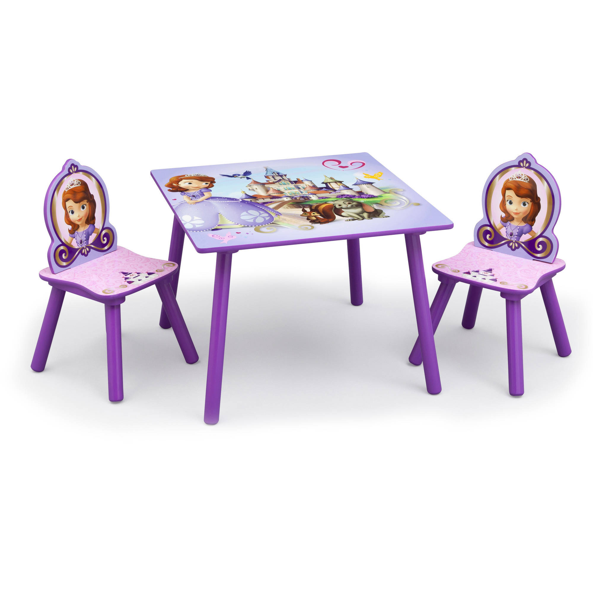 Disney Jr. Sofia the First Table and Chairs Set, Lavender