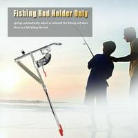 Fishing Rod Bracket,HURRISE Portable Fishing Rod Bracket Practical Dual Spring Fishing Pole Metal Holder Stand Accessory