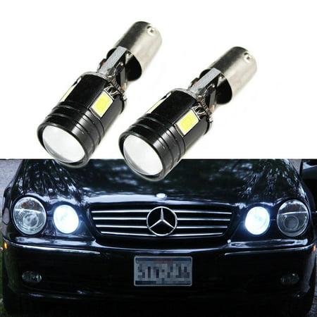 Xotic Tech 1 Pair Error Free CREE Xenon White BAX9S 2-B BA9 64132 H6W 4-SMD LED For European Cars Parking Position Light Bulbs