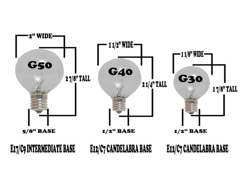 G30 Patio String Lights with 25 Clear Globe Bulbs – Outdoor String ...