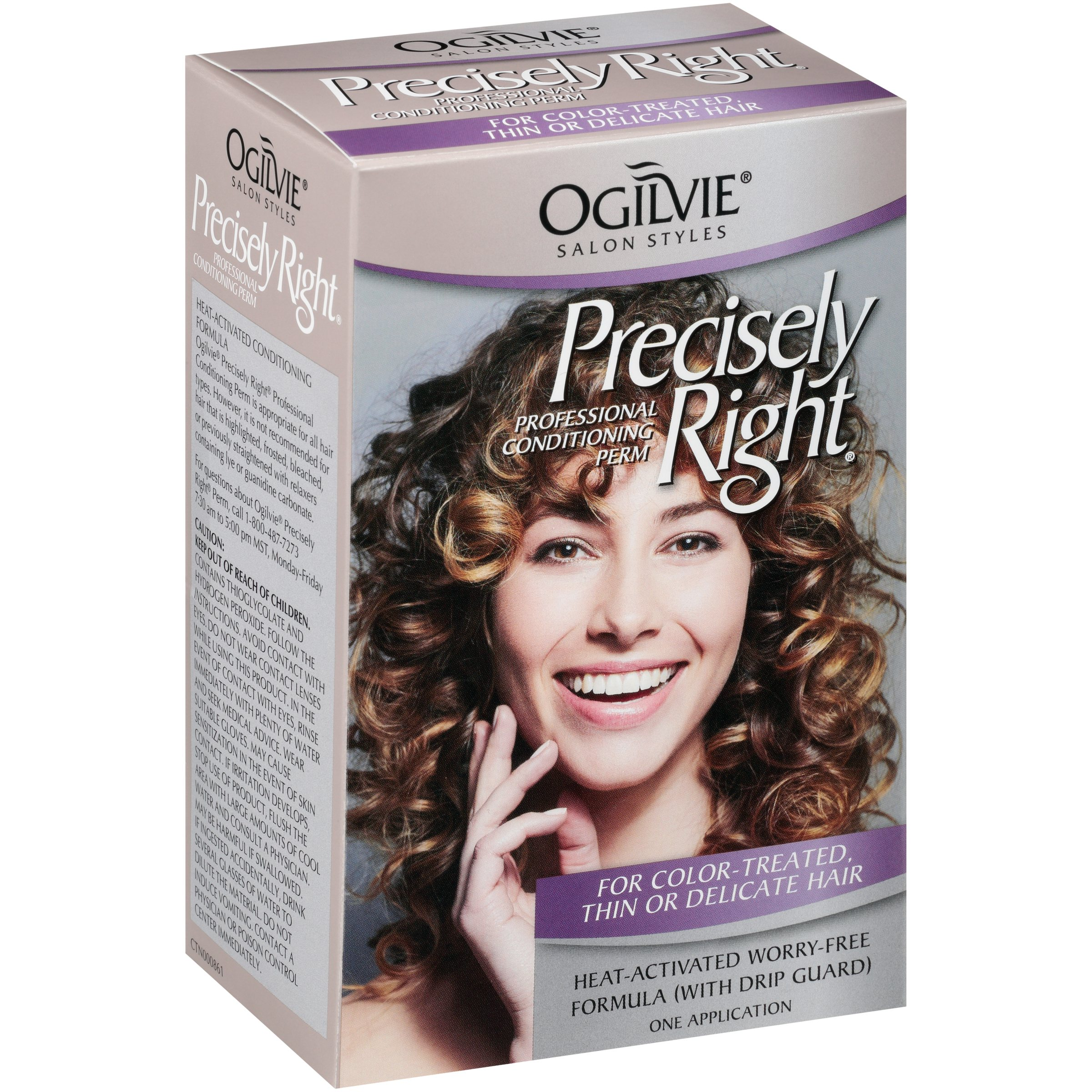 Ogilvie Salon Styles Professional Conditioning Perm For Color-Treated Thin Or Delicate Hair Precisely Right 1 Ct Box