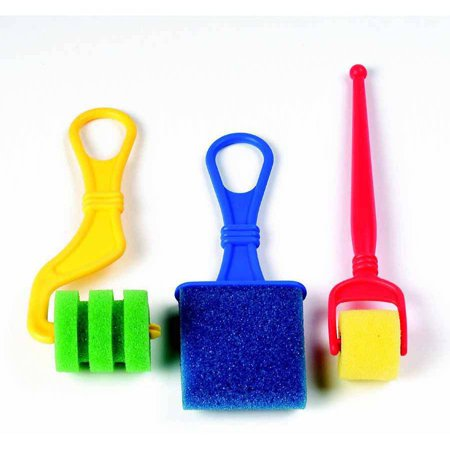 Chenille Kraft Foam Paint Roller Assortment, Assorted Size, Multiple Color, Pack of 18 ()