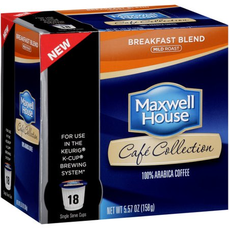 Maxwell House Cafe Collection Breakfast Blend Mild Roast Cof