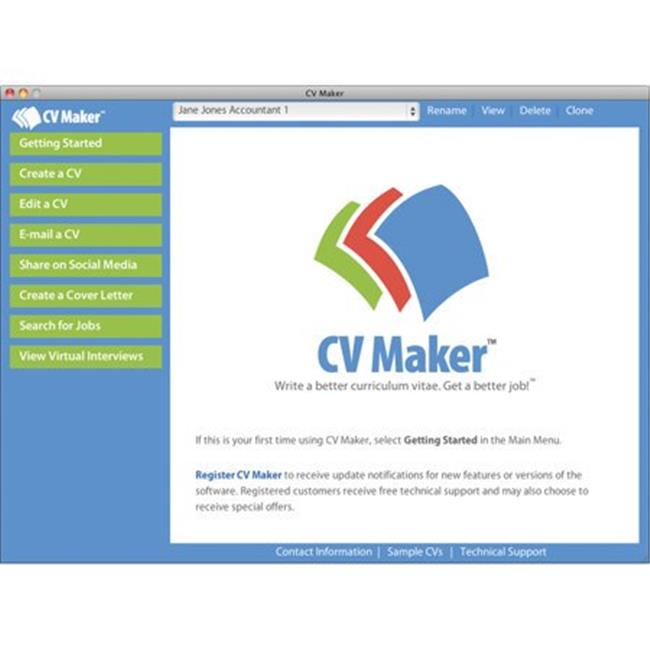 Cv Maker For Mac (Email Delivery)