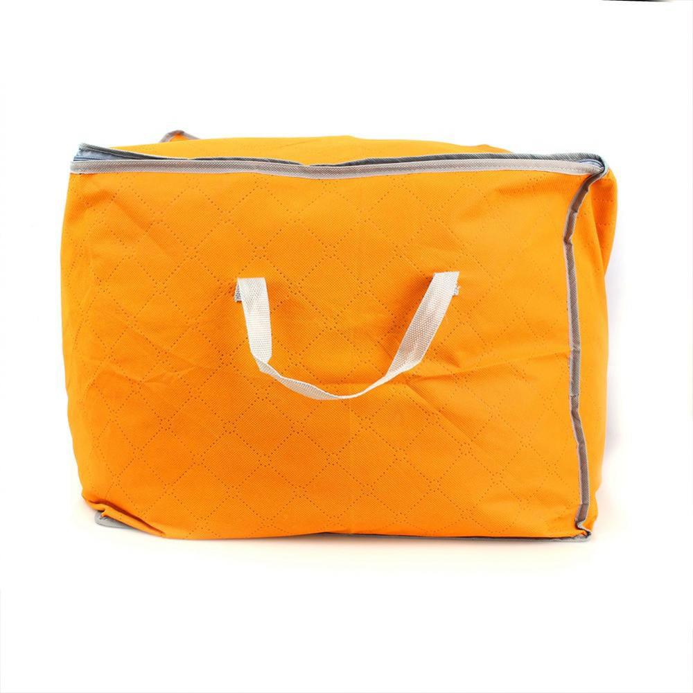 Yosoo Foldable Clothing Organizer Clothing Storage Box For Clothes Underbed Dustproof Bag Orange,clothing storage,clothing organizer
