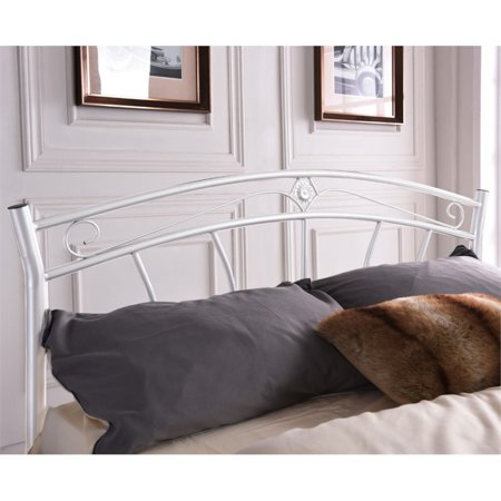 Pemberly Row Twin Metal Panel Bed in White - image 1 de 3
