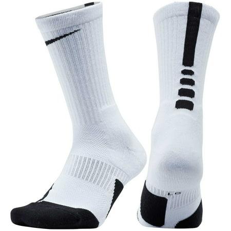 3c6badcd9592e8 Nike - Nike Dry Elite 1.5 Crew Basketball Socks - White Black Black - XL -  Walmart.com