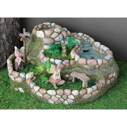 Marshall Home Garden Fairy Waterfall Planter Stone Statue Walmart Com