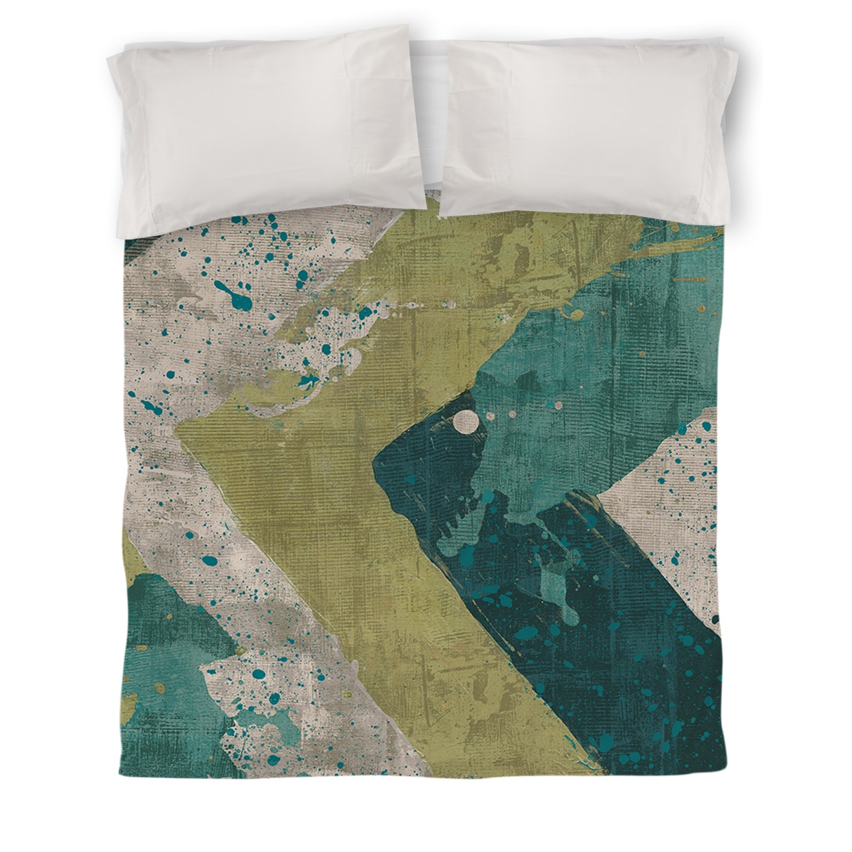 IDG Green Splatter Duvet Cover