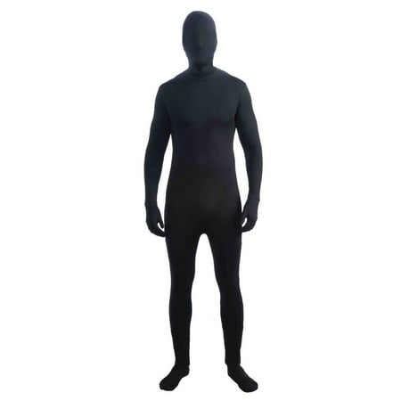 Halloween Disappearing Man Black Adult Costume](Black Widow Iron Man 2 Costume)