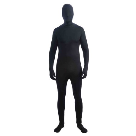 Black Men Costume (Halloween Disappearing Man Black Adult)