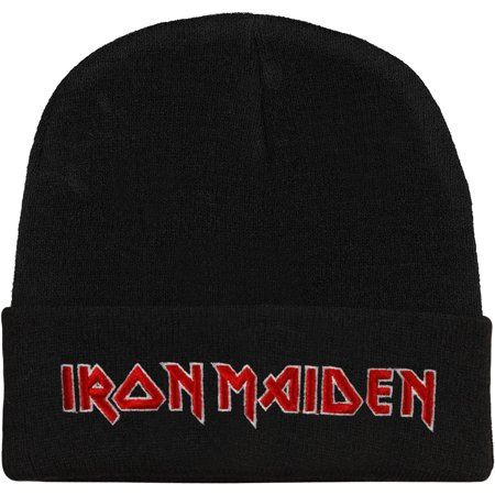 Iron Maiden Men's Classic Logo Beanie Beanie Black - Iron Maiden Halloween Wallpaper