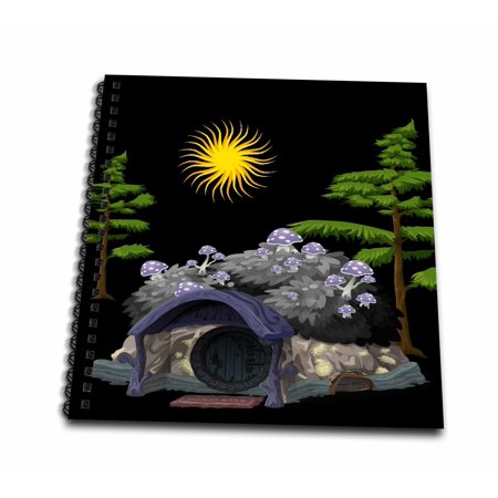 Hobbit House - 3dRose Hobbit House - Mini Notepad, 4 by 4-inch
