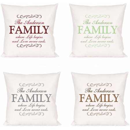 Love Pillow Case From Modern Family : Personalized Love Never Ends Family Pillow - Walmart.com