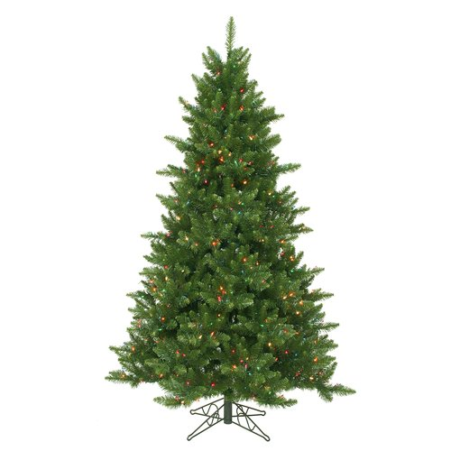 The Holiday Aisle 5.5' Camdon Fir Christmas Tree with 450 LED Multi Colored Lights