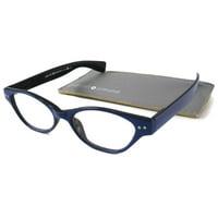 Gabriel+Simone Blue-and-Black  Women's 'Le Maire' Cat-Eye Reading Glasses - Blue/Black