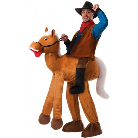 Ride a Horse Pull-On Pants Men's Adult Halloween Costume, One Size - Mens Pleather Pants Halloween Costume