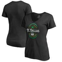 FC Dallas Fanatics Branded Women's Forever Lucky V-Neck T-Shirt - Black