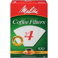 Melitta #4 White Cone Coffee Filters, 100 Ct