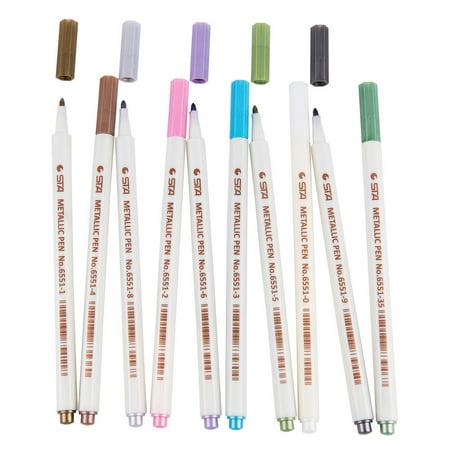 Useful Assorted Colored Metallic Permanent Paint Markers Pens Metallic Marker Pens Pen Touch Metallic Marker