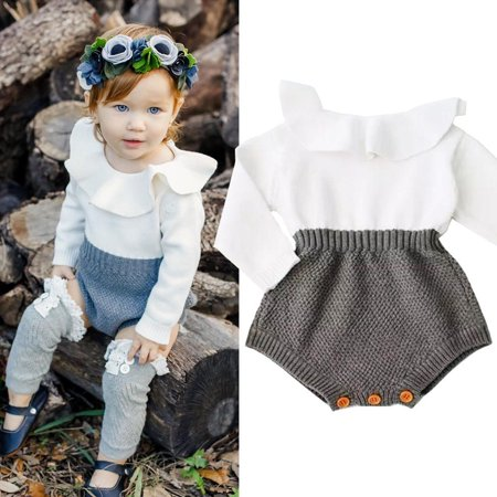 FUFUCAILLM - Infant Baby Girls Long Sleeve Wool Knit Bodysuit Romper  Jumpsuit Warm One Piece Outfits Clothes - Walmart.com 6b29f403d