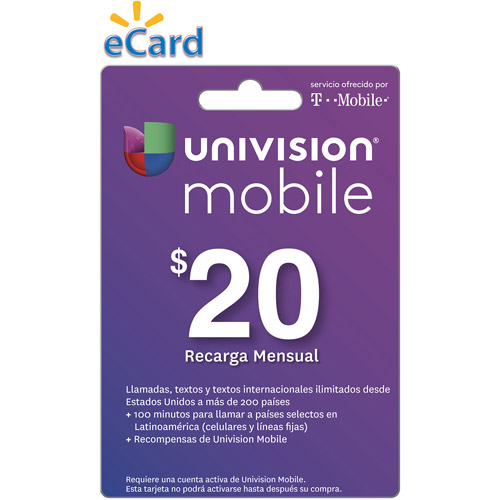 Univision Mobile $20 Card (Email Delivery)