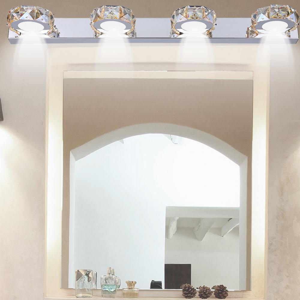 Incroyable Yosoo Vanity Lights LED Bathroom Light Fixtures Crystal 4 Light Make Up  Mirror Front Lighting For Bedroom Dresser Wall Painting   Walmart.com