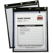 C-Line Heavy-Duty Super Heavyweight Plus Shop Ticket Holders, Black, 9 x 12, 15/BX