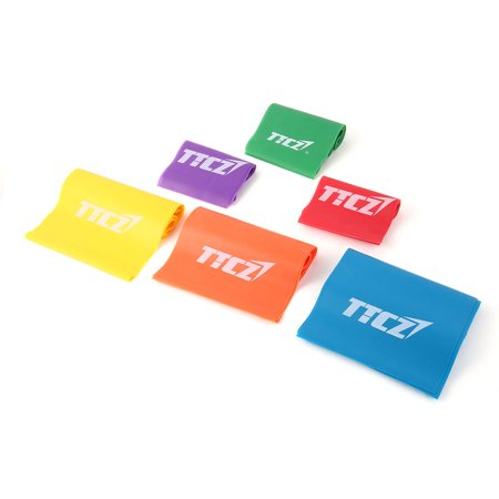 Sports Rubber Stretchy Assistance Exercise Resistance Band Assorted Color 6 in 1