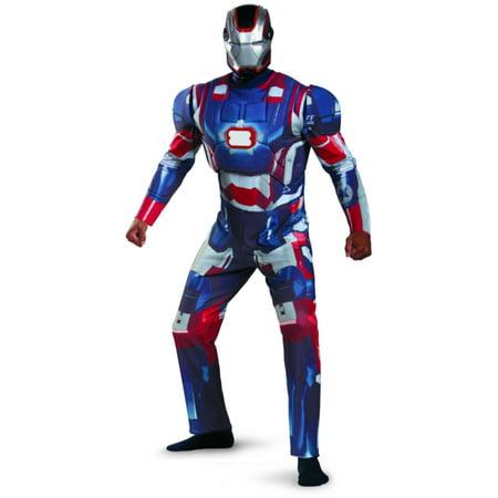 Adult Iron Man 3 Iron Patriot 3d Armor LED Reactor Costume