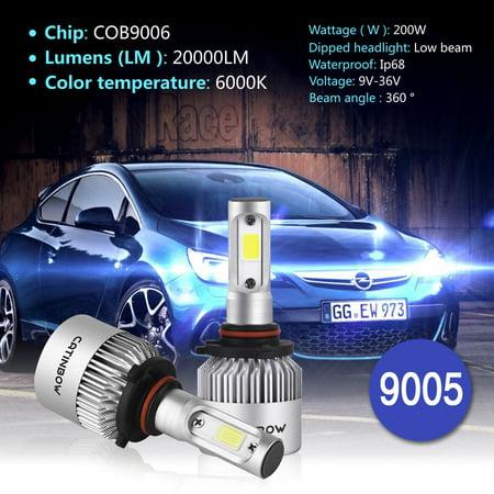 9005 High Beam Kit (LED Car Headlight,200W 2000LM Cree LED Headlight Kit Bulbs HB3 H10 9005 6500K High Low Beam Lamp)