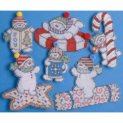Design Works Plastic Canvas Kit, Sweetie Snowman