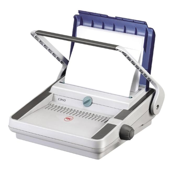 Wilson Jones.  7709000 CombBind C340 Manual Binding System, 425 Sheets, 18w x 17d x 13h, Off-White