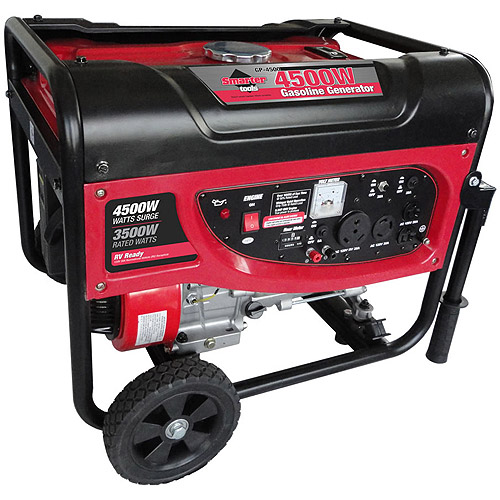 Smarter Tools 4500W Portable Generator with No-Flat Wheels and Handles