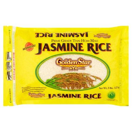 Golden Star Prime Grade Long Grain Fragrant Jasmine Rice  5 Lb