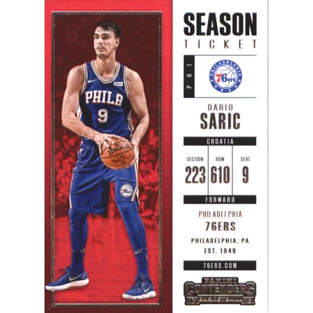 2017-18 Panini Contenders Season Ticket #69 Dario Saric Philadelphia 76ers Basketball Card