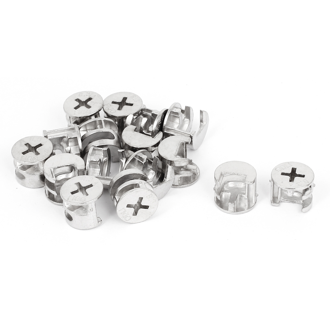 15mmx12mm Cross Head  Metal Cabinet Furniture Connect Cam Fittings 15pcs
