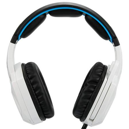 SADES Headset Spirit Wolf 7.1 Computer Headphone Gaming Blue/White - image 2 of 6