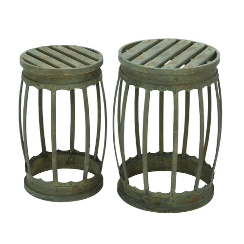 Williston Forge Dracut 2 Piece Barrel Patio Bar Stool Set